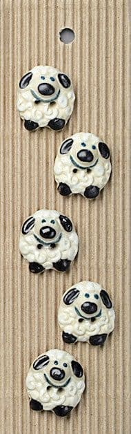 Incomparable BUTTONS L432 - sheep x 5