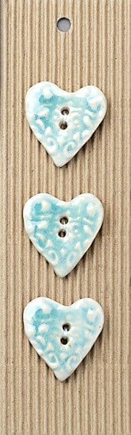 Incomparable BUTTONS L483 - filigree texture hearts x 3
