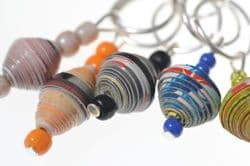 Injabulo Mothers for All Stitch Markers - paper bead