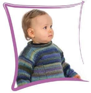 MILLE COLORI BABY's JUMPER Free Pattern