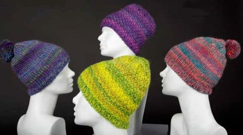 MILLE COLORI BIG 2 styles of CAP Free Pattern