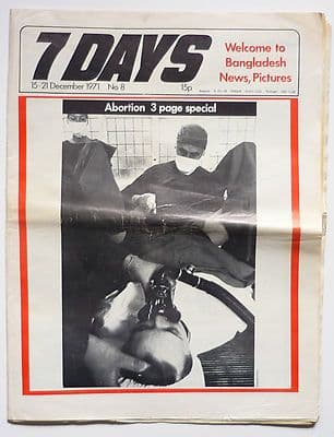 7 Days No 8 December 1971 Bangladesh Abortion Meehan Maguire Ireland Charles Fourier