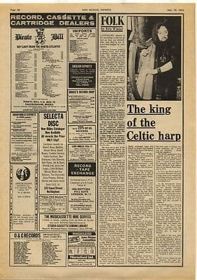 ALAN STIVELL Interview Vintage Music Press Article/cutting/clipping 1974