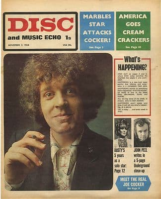 ALEXIS KORNER Disc Cover Original Vintage music Press cutting/clipping 1968