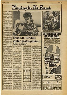 ALVIN STARDUST Interview Vintage Music Press Article/cutting/clipping 1974