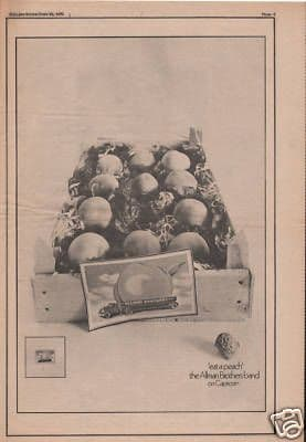 Allman Brothers 1973 Poster Size Original Eat a Peach Vintage music Press cutting/clipping LP Advert