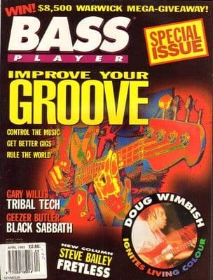 Bass Player Magazine April 1993 Geezer Butler Black Sabbath Gary Willis Doug Wimbish