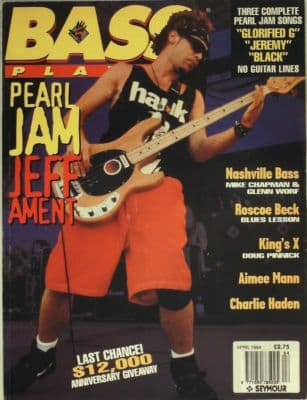 Bass Player Magazine April 1994 Pearl Jam Jeff Ament Aimee Mann Charlie Haden