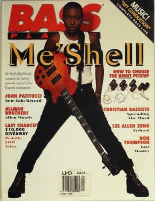 Bass Player Magazine April 1995 MeShell NdegeOcello John Patitucci Lee Allen