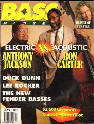 Bass Player Magazine December 1994 Anthony Jackson Ron Carter Duck Dunn Lee Rocker