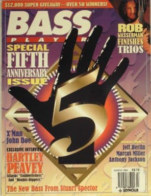 Bass Player Magazine March 1994 Rob Wasserman X Man John Doe Jeff Berlin