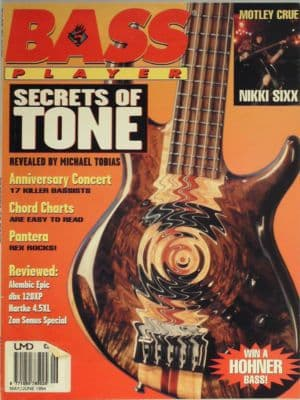 Bass Player Magazine May June 1994 Motley Crue Nikki Sixx Pantera