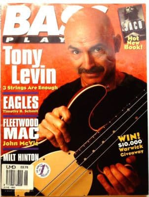 Bass Player Magazine May June 1995 Tony Levin Fleetwood Mac Eagles