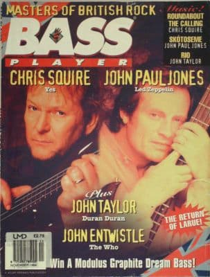 Bass Player Magazine November 1994 John Paul Jones Led Zeppelin The Who Yes