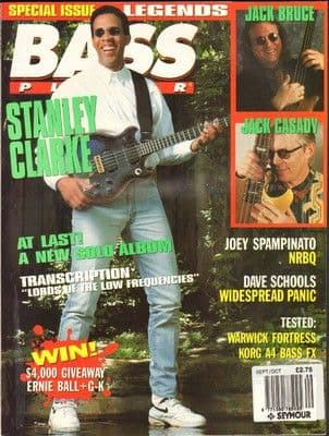 Bass Player Magazine September October 1993 Stanley Clarke Jack Bruce Joey Spampinato