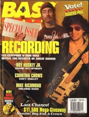 Bass Player Magazine September October 1994 Les Claypool Don Was Matt Malley