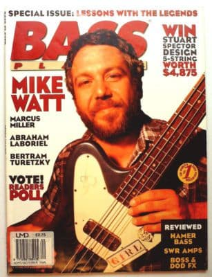 Bass Player Magazine September October 1995 Mike Watt Marcus Miller