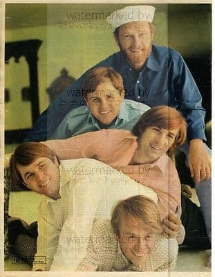 Beach Boys size approx 10X13 inch pinup poster size press cutting/clipping 1967