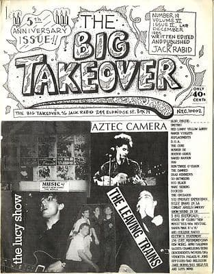 Big Takeover Magazine/Fanzine Issue No 19 Cure Smiths 999 Dead Kennedys Lucy Show Aztec Camera