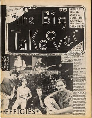 Big Takeover Magazine/Fanzine Issue No 24 Echo & The Bunnymen The Effigies Comsat Angels