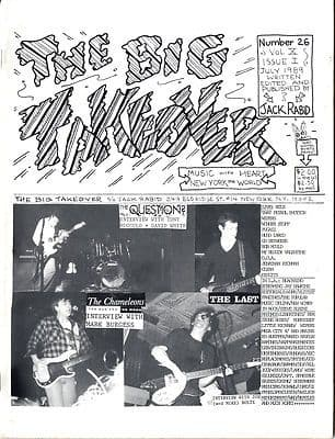 Big Takeover Magazine/Fanzine Issue No 26 Chameleons The Last The Question My Bloody Valentine