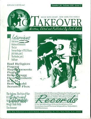 Big Takeover Magazine/Fanzine Issue No 30 Weirdos The La's Fugazi REM Jello Biafra Billy Bragg