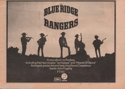 BLUE RIDGE RANGERS A4 Size LP 1973 vintage music press advert cutting/clipping