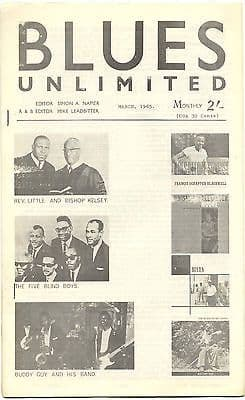 Blues Unlimited Magazine No 20 March 1965 Jimmy Reed Victoria Spivey Walter Shakey Horton