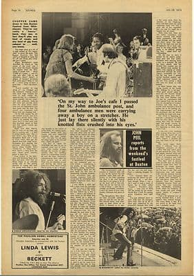 BUXTON FESTIVAL Review Vintage Music Press Article/cutting/clipping 1973