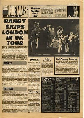 Bad Company MICK RONSON Vintage Music Press article/cutting/clipping 1974