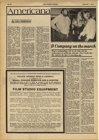 Bad Company in America 1½ page Vintage Music Press article/cutting/clipping 1974