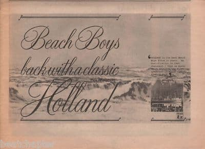 Beach Boys Holland A4 Size LP 1973 vintage music press advert cutting/clipping