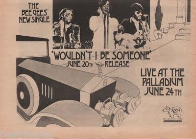Bee Gees Wouldn't I be someone A4 Size LP 1973 vintage music press advert cutting/clipping