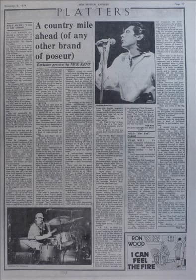 Bryan Ferry Country life LP Review Music Press Article/cutting/clipping 1974