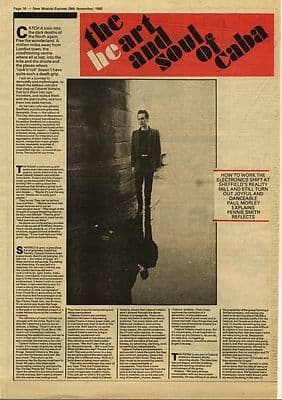 CABARET VOLTAIRE 2 page Interview Music Press article/cutting/clipping 1980