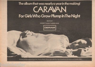 Caravan For girls who grow plump A4 Size LP 1973 vintage music press advert cutting/clipping