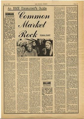 COMMON MARKET ROCK Vintage Music Press Article/cutting/clipping 1973