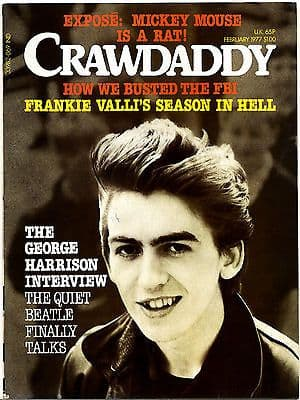 Crawdaddy Magazine February 1977 George Harrison 10 page interview Frankie Valli Frank Zappa