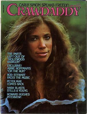 Crawdaddy Magazine September 1976 Abbie Hoffman Peter Max Howard Hughes Rod Stewart Carly Simon