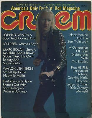 Creem Magazine July 1973 Led Zeppelin Black Oak Grand Funk Alice Cooper Allman Brothers Lou Reed