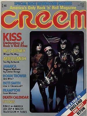 Creem Magazine July 1976 Patti Smith Television/Tom Verlaine Rolling Stones Robin Trower McCartney
