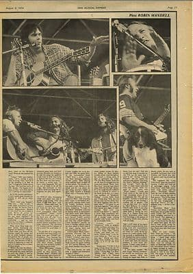 CROSBY STILLS NASH & YOUNG Vintage Music Press Article/cutting/clipping 1974