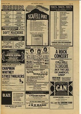 Can Hammersmith Palais Live Review + gig advert Music Press Article/cutting/clipping 1974