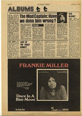 Captain Beefheart Clear Spot LP review Vintage Music Press Article/cutting/clipping 1972