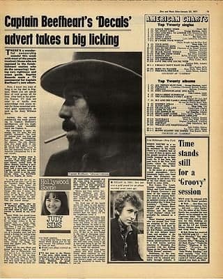 Captain Beefheart Vintage Music Press article/cutting/clipping 1971