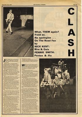 Clash 2 page Music Press article/cutting/clipping 1978