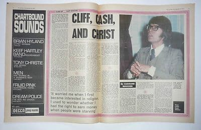 Cliff Richard Interview Vintage Music Press Article/cutting/clipping 1970