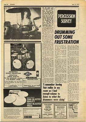 Curved Air Jim Russell Interview Vintage Music Press Article/cutting/clipping 1973