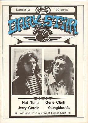 Dark Star Magazine Issue No 3 June 1976 Hot Tuna Jerry Garcia Youngbloods Hot Tuna Byrds Gene Clark