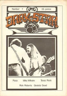Dark Star Magazine No 7 February 1977 Grateful Dead Poco Rick Roberts Mike Milhelm